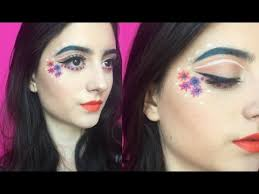 creative spring flower makeup tutorial