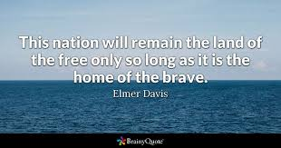 elmer davis this nation will remain the land of the