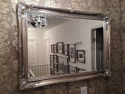 large antique silver elegant wall