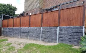 Concrete Sleeper Retaining Walls Dog Gone Fencing