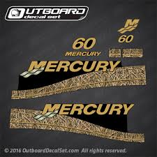 1999 2004 Mercury 60 Hp Oil Window Decal Set Shadow Grass Camo 811212a00