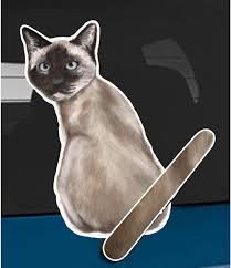 Amazon Com Wagging Wipers Siamese Cat Car Rear Wiper Sticker Decal Automotive