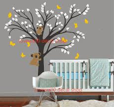 Vinyl Wall Decal Simple Tree With Cute Bears Playing Butterfly Cubs Home House Art Wall Decals Wall On Luulla