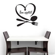 Bon Appetit Wall Stickers Franch Kitchen Wall Decorative Vinyl Wall Decals Heart Shaped Spoon Fork Stickers Wall Art Stickers Uk Wall Art Tree Decal From Moderndecal 5 06 Dhgate Com