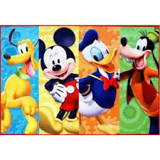 Gertmenian Disney Mickey Mouse Clubhouse Rug Hd Digital Mmch Kids Room Decor Bedding Area Rugs 5x7 X Large Multicolor