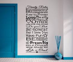 Family Rules Wall Decal Wall Art Decal Sticker