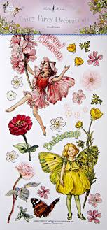 Flower Fairies Party Decor Wall Stickers