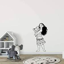 Amazon Com Moana Pet Pig Pua Disney Princess Character Cartoon Wall Sticker Art Decal For Girls Boys Room Bedroom Nursery Kindergarten House Fun Home Decor Stickers Wall Art Vinyl Decoration Size 40x35 Inch