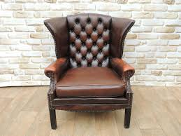 leather vintage armchair chesterfield