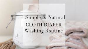 how to wash cloth diapers my simple