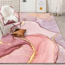 Modern Beautiful Abstract Watercolor Carpet Pink Gold Kids Bedroom Girls Room Living Room Mat Large Flannel Non Slip Kitchen Rug Rug Aliexpress