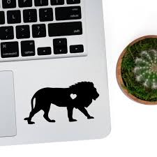 Lion W Heart Car Laptop Vinyl Decal Sticker Etsy
