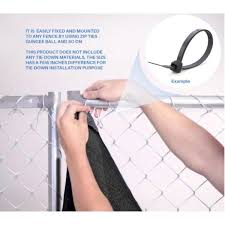 Boen 6 Ft X 50 Ft Black Privacy Fence Screen Netting Mesh With Reinforced Grommet For Chain Link Garden Fence Pn 30056 The Home Depot