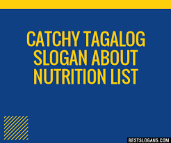 catchy alog about nutrition slogans