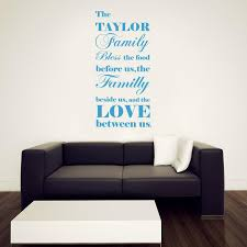 Bless The Food Personalized Inspirational Quotes Wall Sticker Kitchen Decalz Co