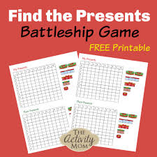 The Activity Mom - Find the Presents Battleship Game - The ...