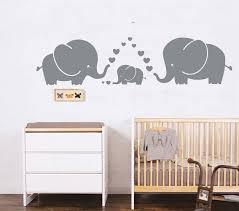 Amazon Com Luckkyy Cute Three Family Elephant Wall Decals For Kid Room Room Decor Baby Nursery Gray Kitchen Dining