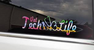 Vet Tech Life Vinyl Car Decal Etsy