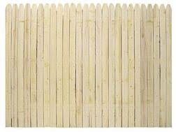 6 H X 8 W Stockade Natural Wood Fence Panel From Menards 26 99 Wood Fence Fence Panels Wood