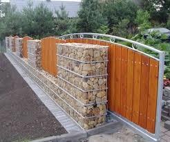 Gabion And Timber Fence Http Www Gabion1 Com Gabion Fence Fence Design Backyard Fences