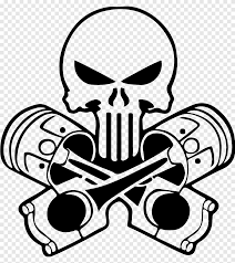 Car Decal Sticker Punisher Human Skull Symbolism Car White Monochrome Png Pngegg