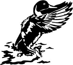 Duck Waterfowl Decal Stob 1 Wildlife Hunting Window Stickers Silhouette Art Duck Silhouette Metal Art