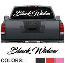 Black Widow Script Windshield Decal Sticker Diesel Turbo Truck Car Spider 45 X 7 Ebay