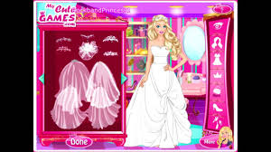 wedding barbie dress up games you