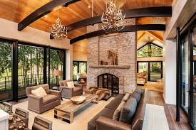 aspen modern mountain great room with