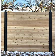 Slipfence 3 In X 3 In X 9 Ft 4 In Black Powder Coated Aluminum Fence Post Includes Post Cap Sf2 Pk309 In 2020 Wood Fence Design Fence Design Privacy Fence Designs