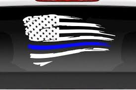 Thin Blue Line Decal Thin Blue Line Sticker Police Support Etsy