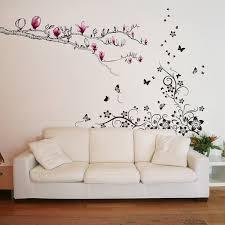 Shop Walplus New Huge Butterfly Vine Magnolia Wall Sticker Home Room Decor Overstock 32007171