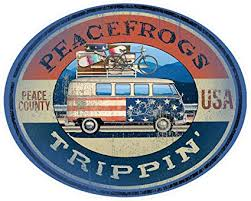 Amazon Com Enjoy It Peace Frogs Trippin Peace Frogs Car Sticker Outdoor Rated Vinyl Sticker Decal For Windows Bumpers Laptops Or Crafts Toys Games