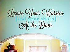 Leave Your Worries And Shoes Wall Decal Item Trading Phrases Shoe Wall Wall Decals Wall Quotes Decals