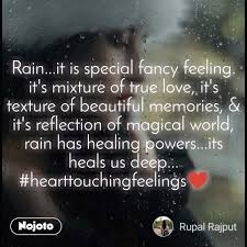 safar rain it is special fancy feeling it s mix english quote