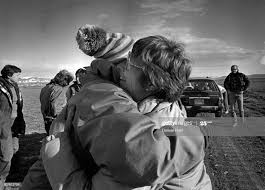 Esther Campbell, Polly Phillips embrace after a morning of grouse ...