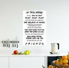 In This House Friends Wall Decal Friends Tv Show Poster Wall Sticker Gift Decor Ebay