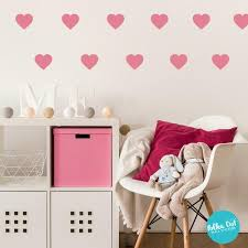 Heart Wall Decals Peel And Stick Polka Dot Wall Stickers