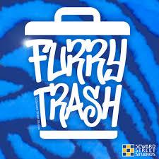 Furry Trash Vinyl Decal Seward Street Studios
