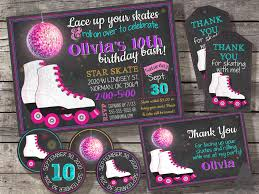 Roller Skating Party Pack Includes Invitation Thank You Card