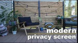 Diy Deck Privacy Screen Do It Yourself Privacy Wall Youtube