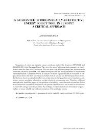 energy policy tool in europe