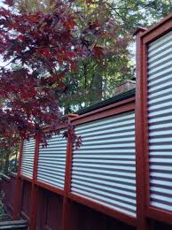 Pin By Buzz On Decks Privacy Metal Fence Privacy Fence Designs Metal Fence Panels