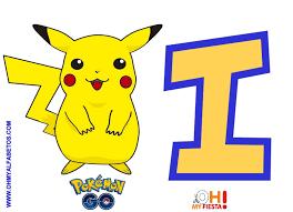 Alfabeto Gratis De Pikachu Pokemon Go Pokemon Go Pikachu Pokemon