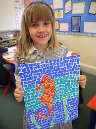 Mosaic sea creature created Abigail Meyer by in Year 3 - Girls' Schools  Association