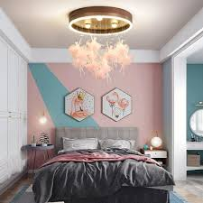 black pink fairy led flush light third