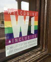 Welcoming Inclusive Window Decals Wisconsin Lgbt Chamber Of Commerce