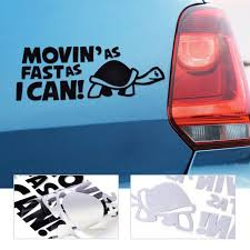 2x Moving As Fast As I Can Turtle Slow Fun Car Auto Window Bumper Decal Sticker For Sale Online Ebay