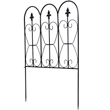 32in X 10ft Folding Decorative Garden Fence Set Of 5 Coated Metal Panels Walmart Canada