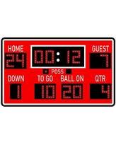 Amazing Deal On Charleena Football Scoreboard Wall Sticker Harriet Bee Size 24 H X 40 W Format Sky Blue